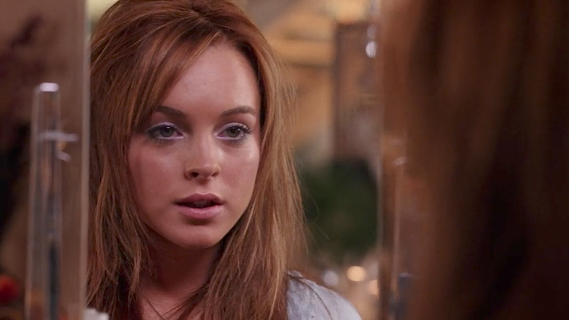 Cady with light pink eyeshadow and lipstick