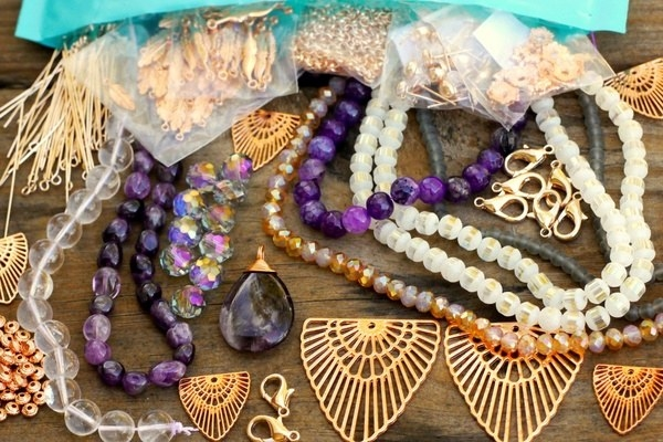 Various beads and jewelry items