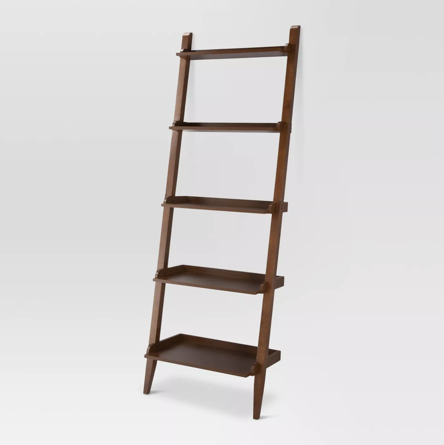 The wooden ladder bookcase