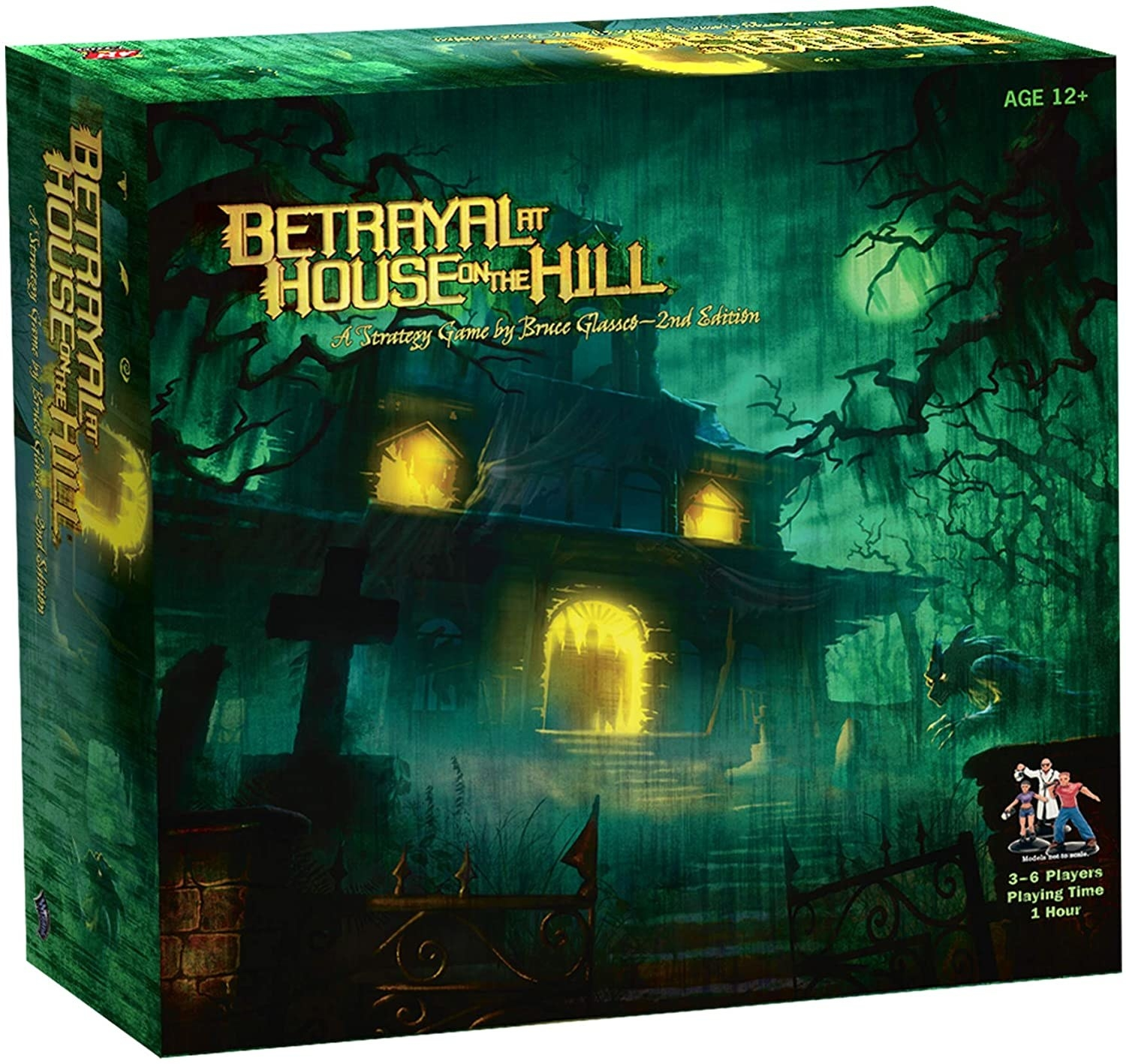 Betrayal At House on the Hill board game box with spooky haunted house on cover