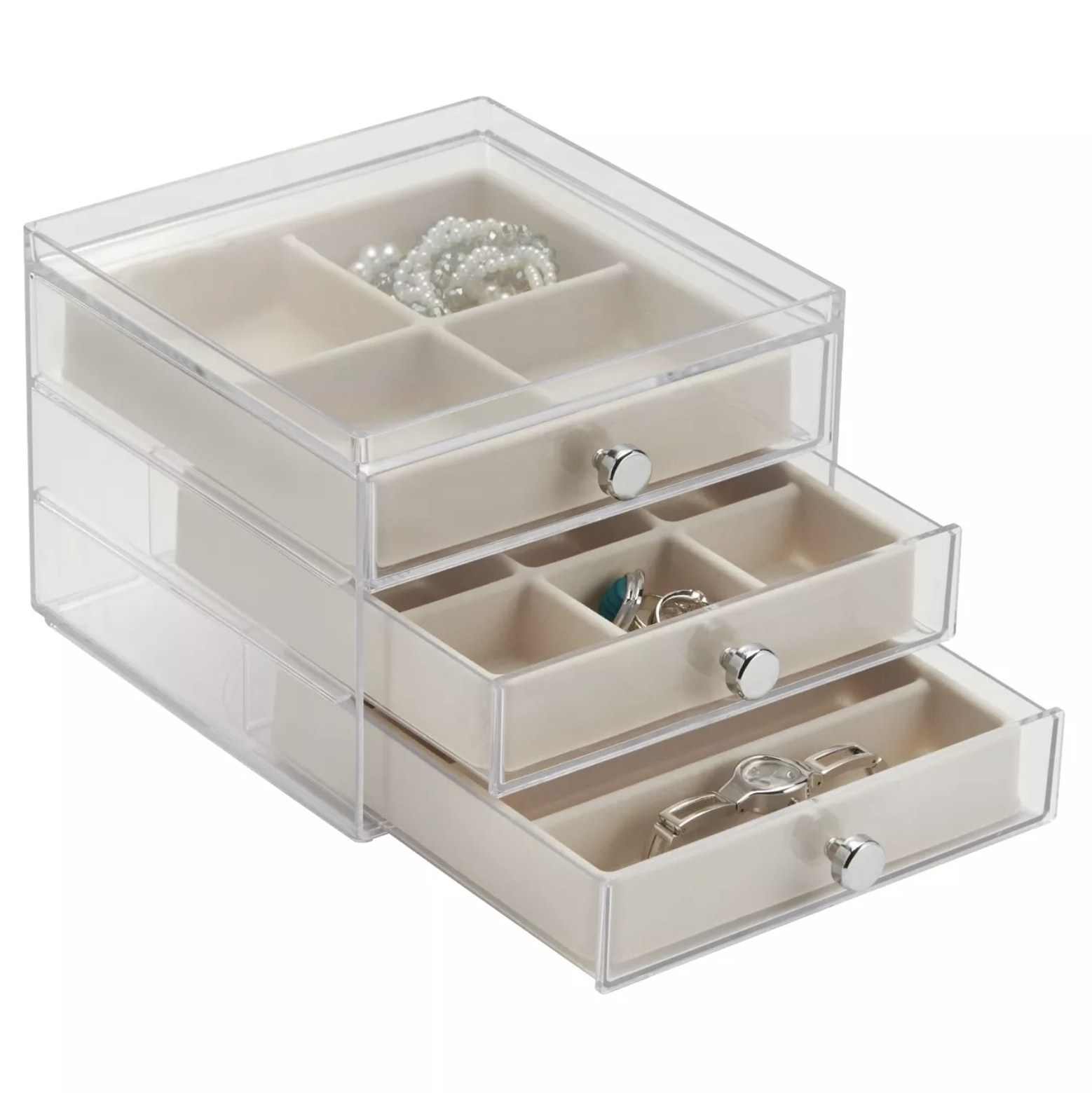 The acrylic jewelry organizer