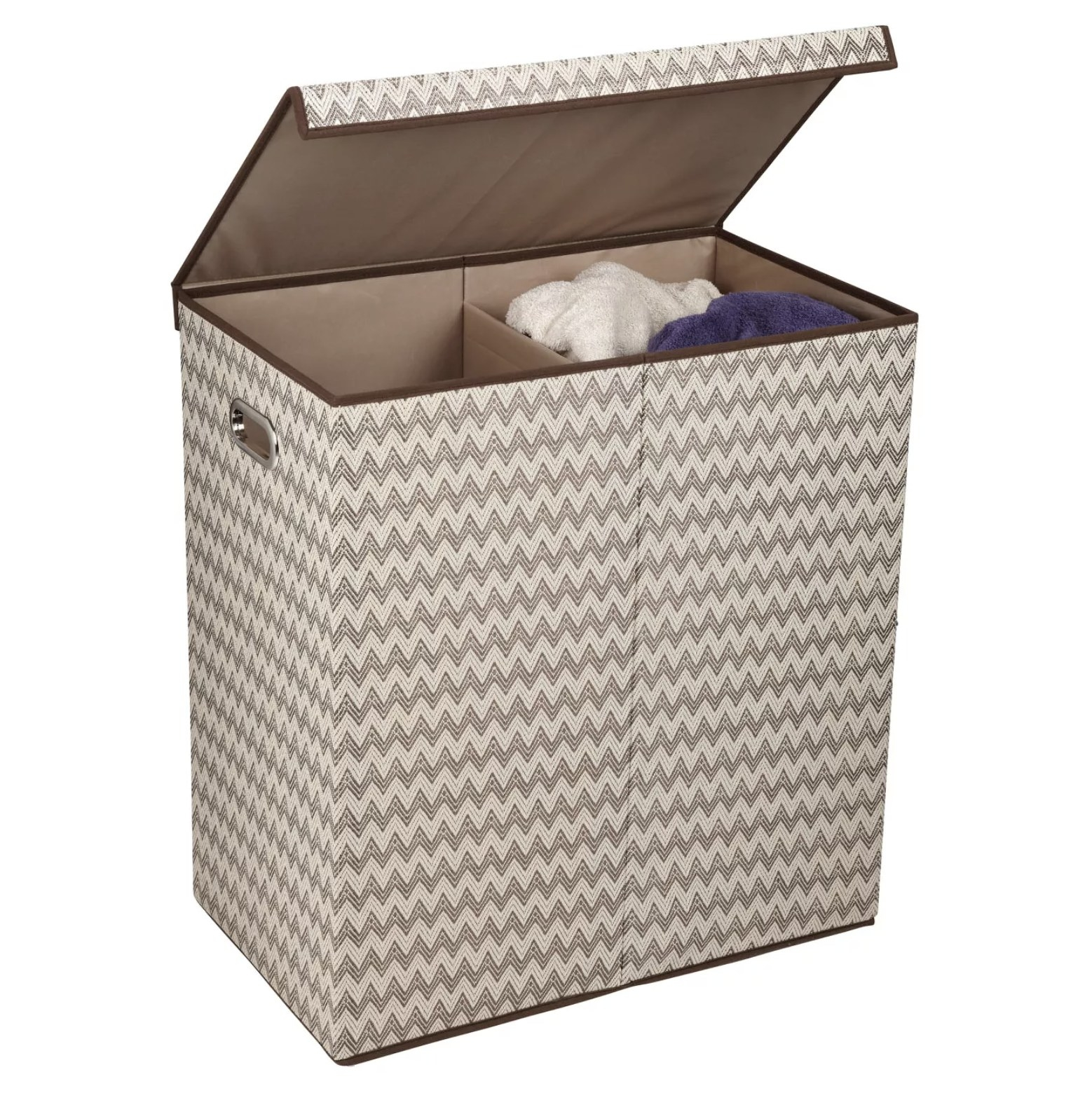 The split laundry basket