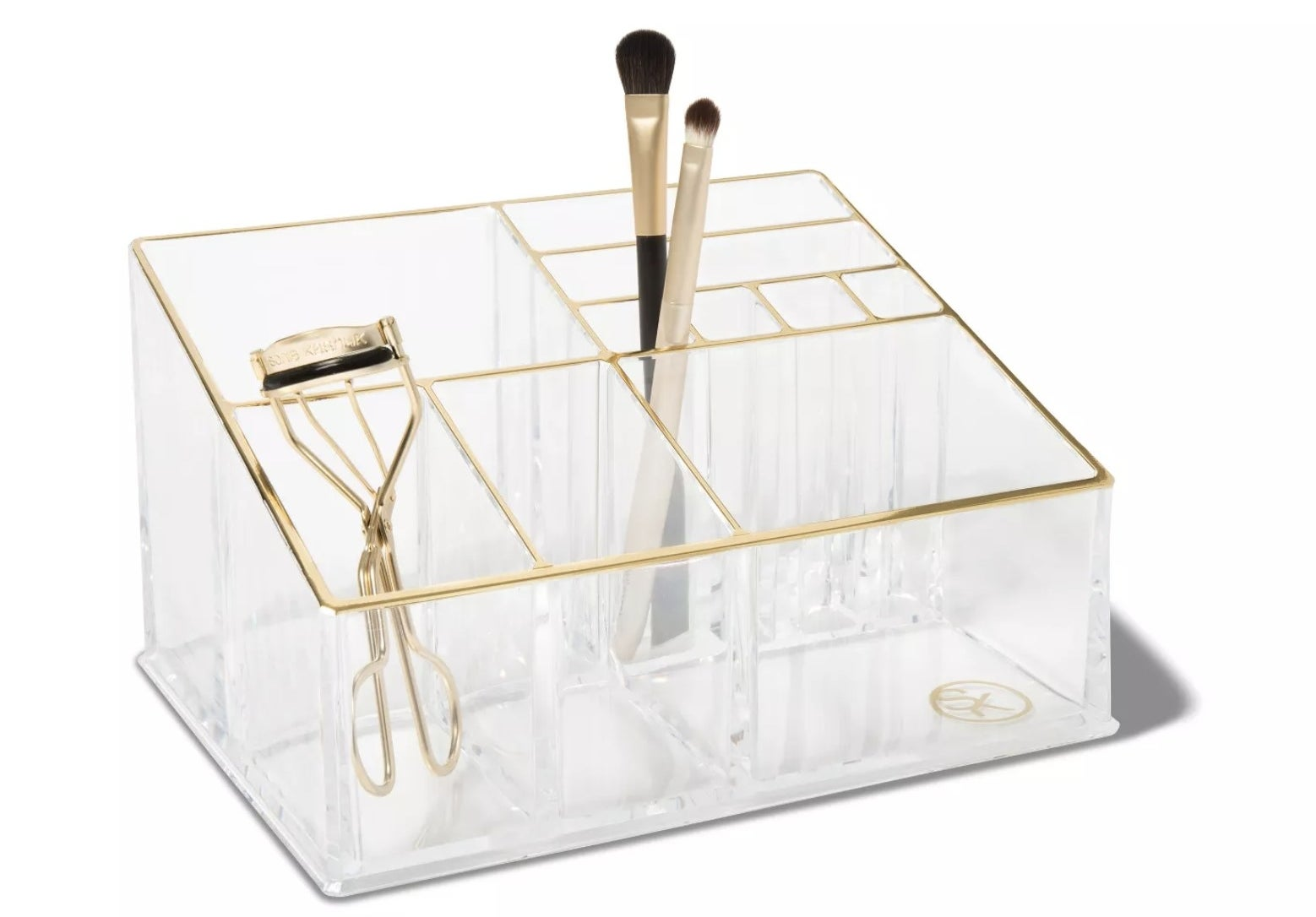 The clear makeup organizing tray