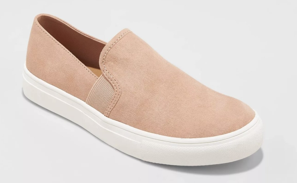 The slip-on sneakers in pink
