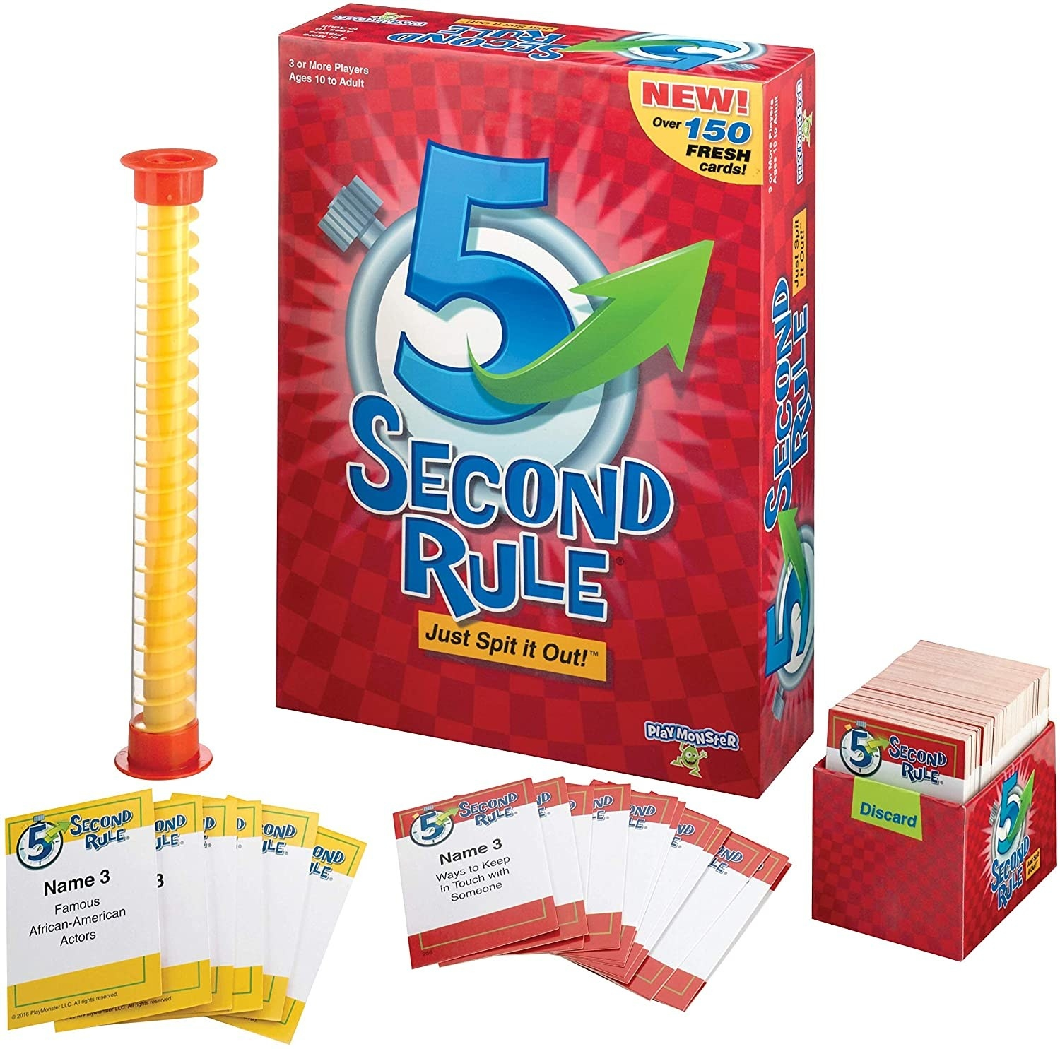 5 Second Rule box with prompt card and timer displayed