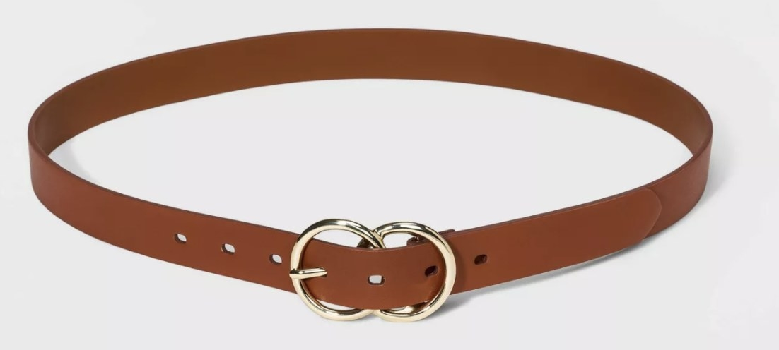 The faux leather belt