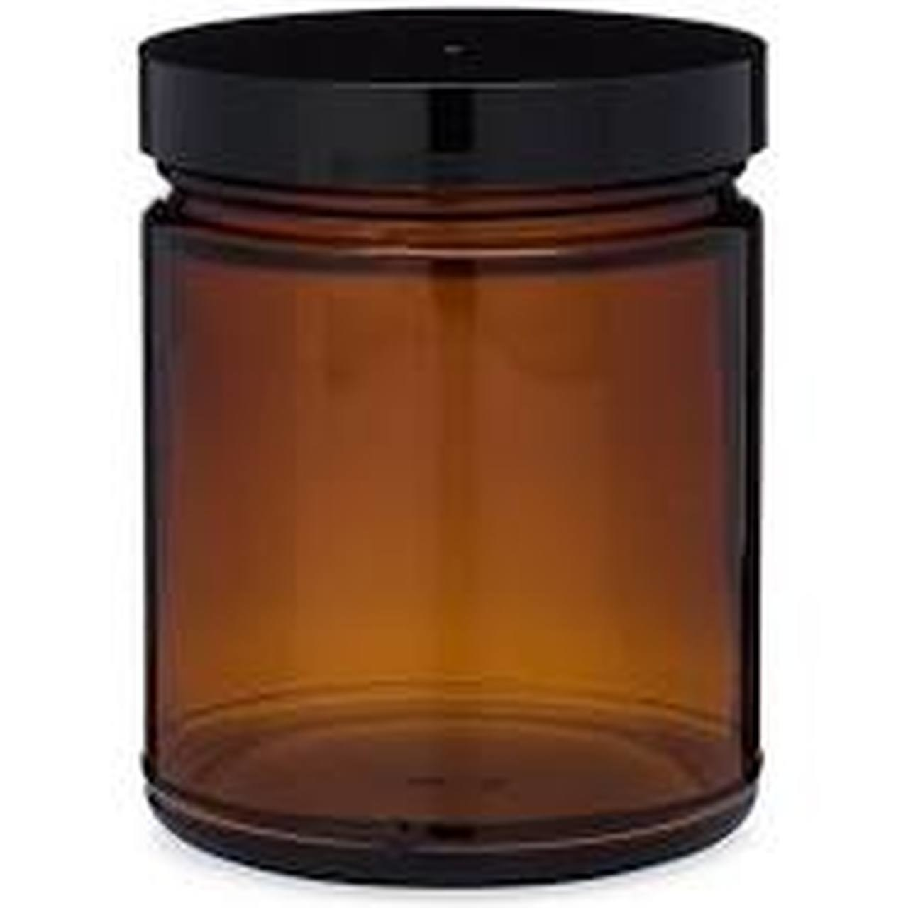 amber glass candle jar