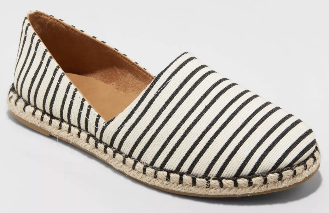 The striped espadrille flats