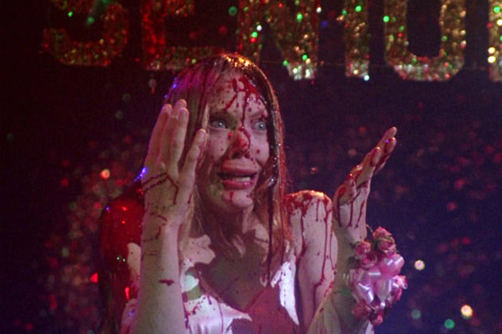 "Actor Sissy Spacek covered in blood during the climax of ""Carrie."""