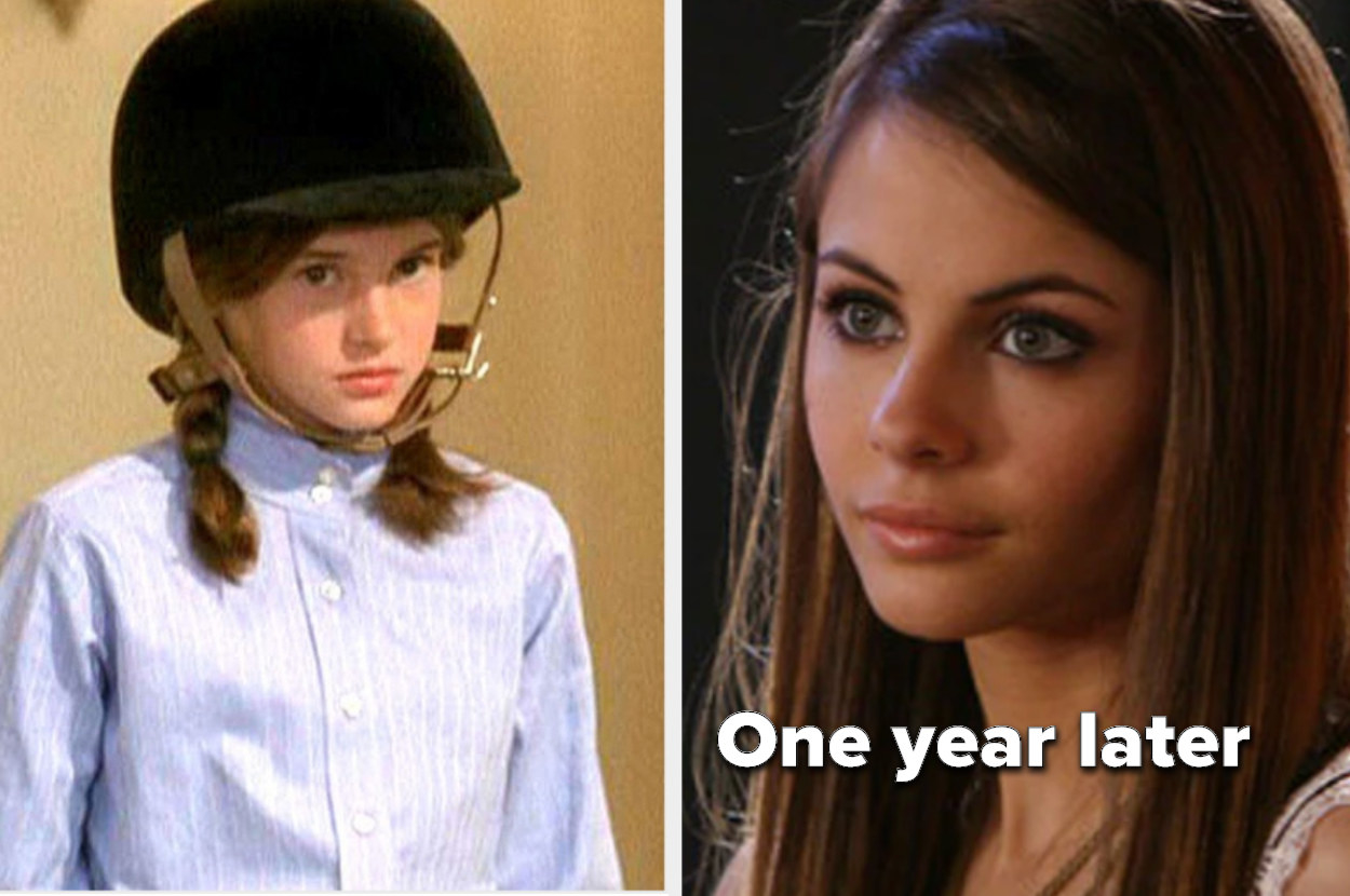 Kaitlyn as a kid and then a teenager just a year later