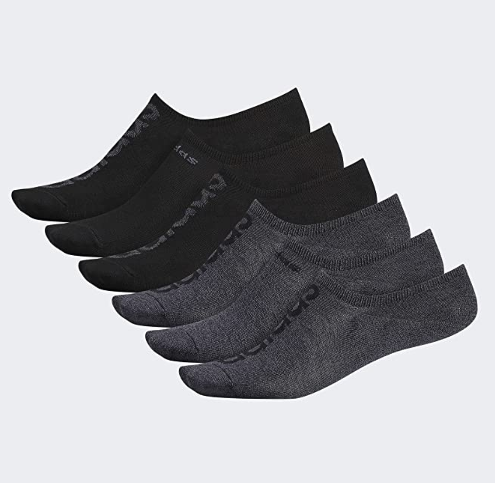 Black and gray low-cut socks