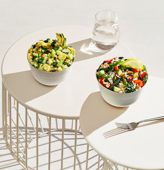 Two salads on a table
