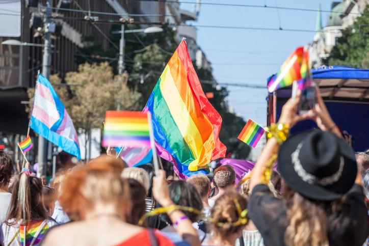 Photo form a pride parade