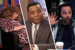 Joan Callamezzo, Perd Hapley, and the Douche on their shows being ridiculous