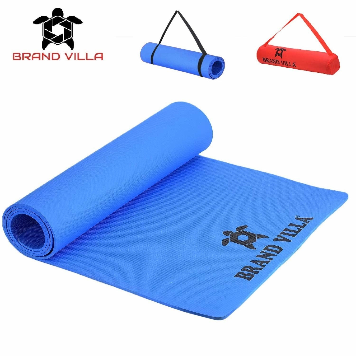 A yoga mat in different colours