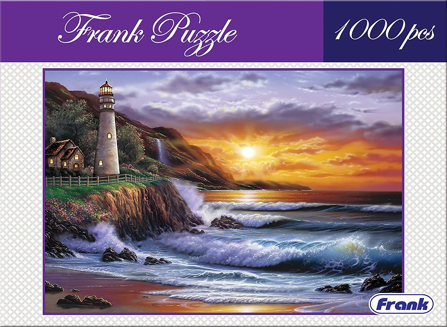 A puzzle with a lighthouse
