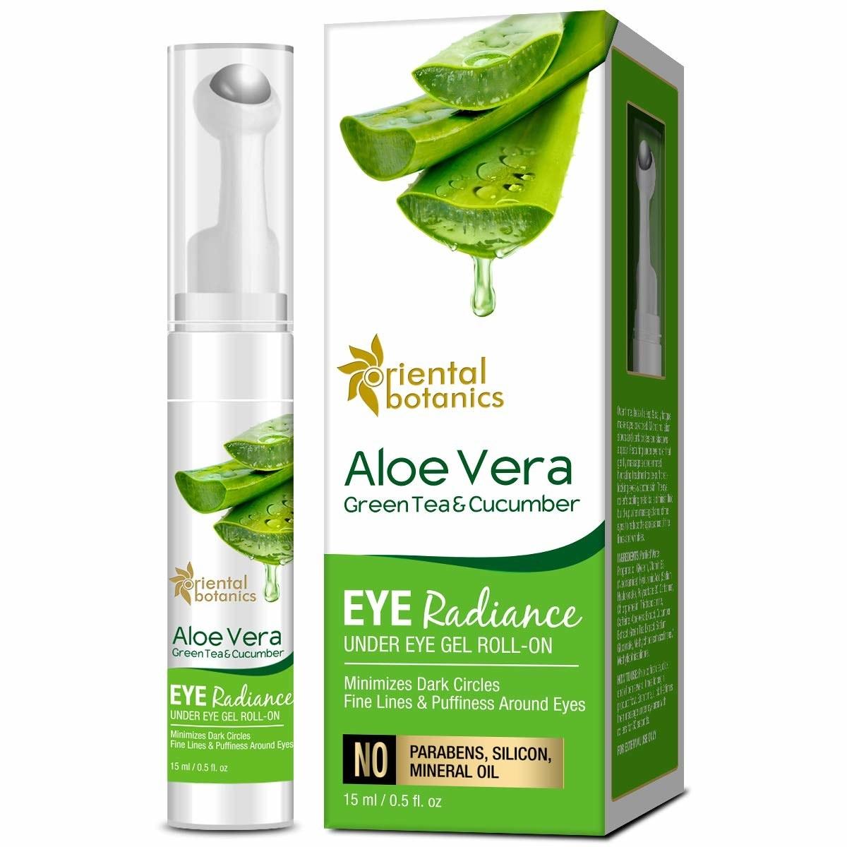 Packaging of the aloe vera eye gel