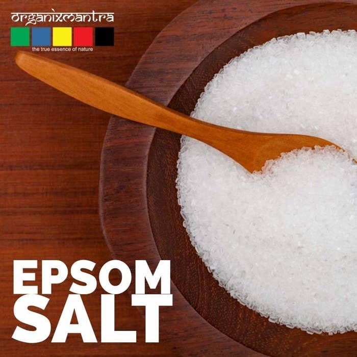 Epsom salt in a bowl