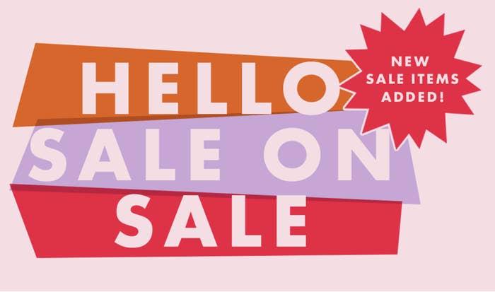 A ModCloth sale banner