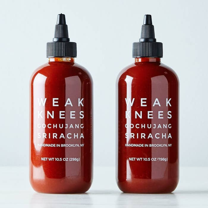 two bottles of the sauce