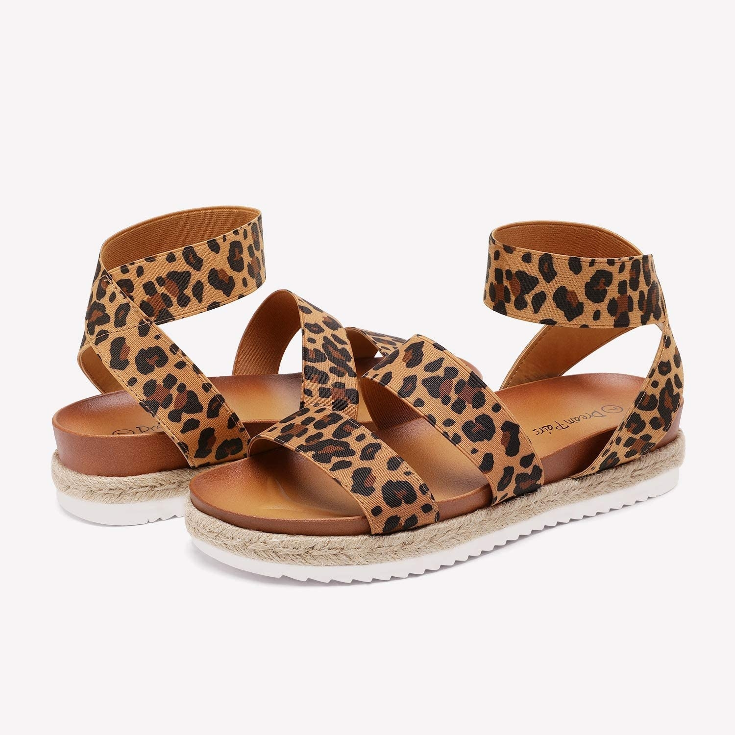 The sandals in leopard print