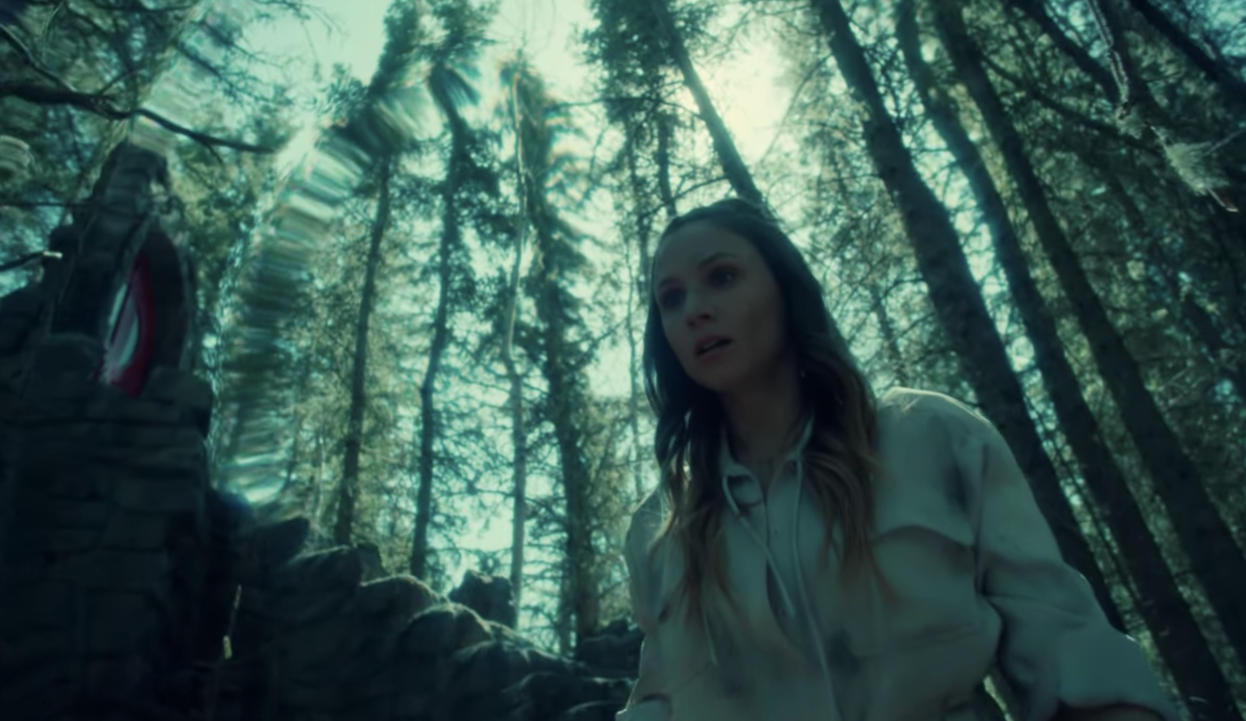 Waverly trapped on the Garden stairs during the Season 3 finale