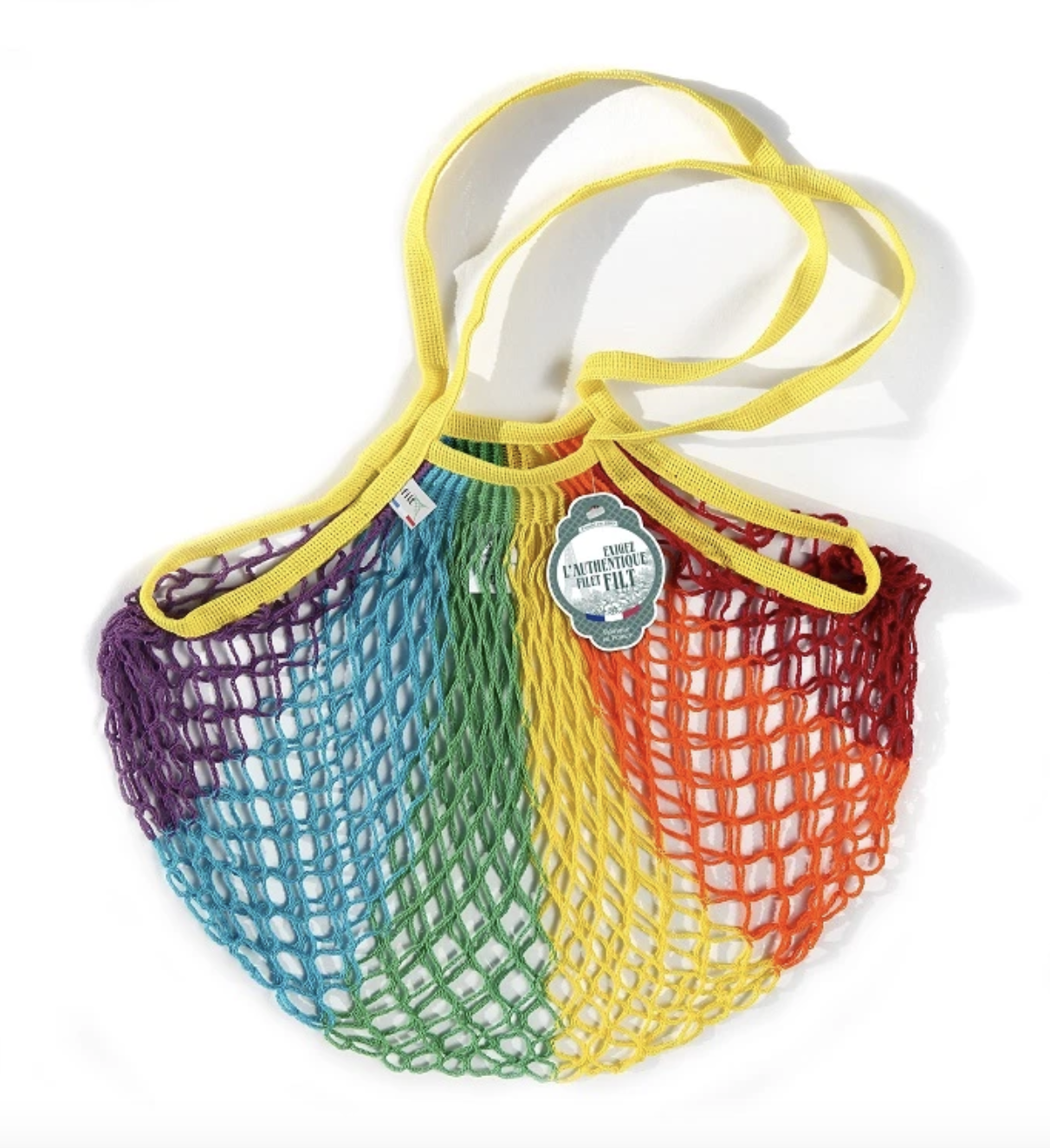 The rainbow net tote bag