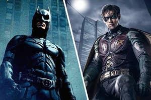 Batman being a hero and Robin being a sidekick