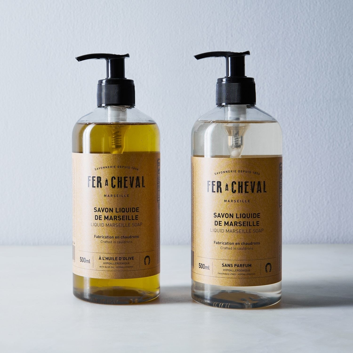 two pump bottles of the hand soap