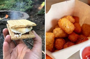 s'mores, tater tots