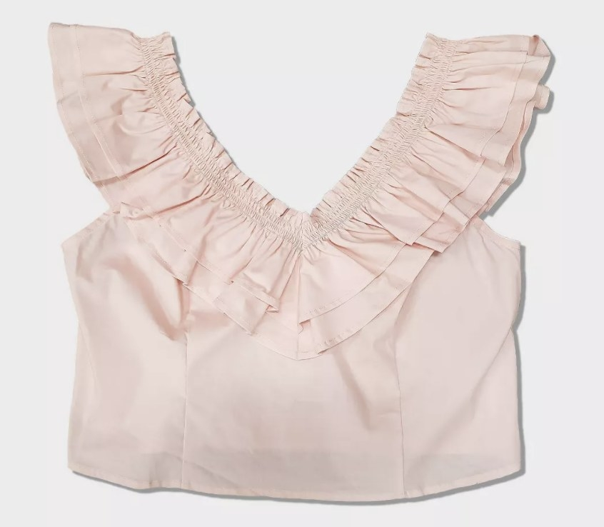 The top in light pink