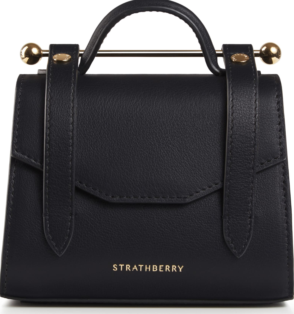 the black leather tote