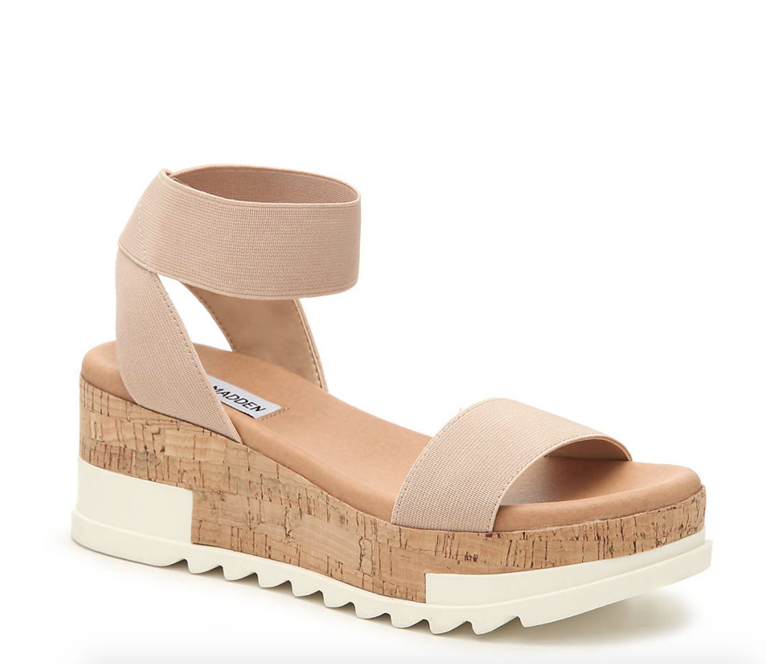 Steve Madden wedge sandals with nude straps