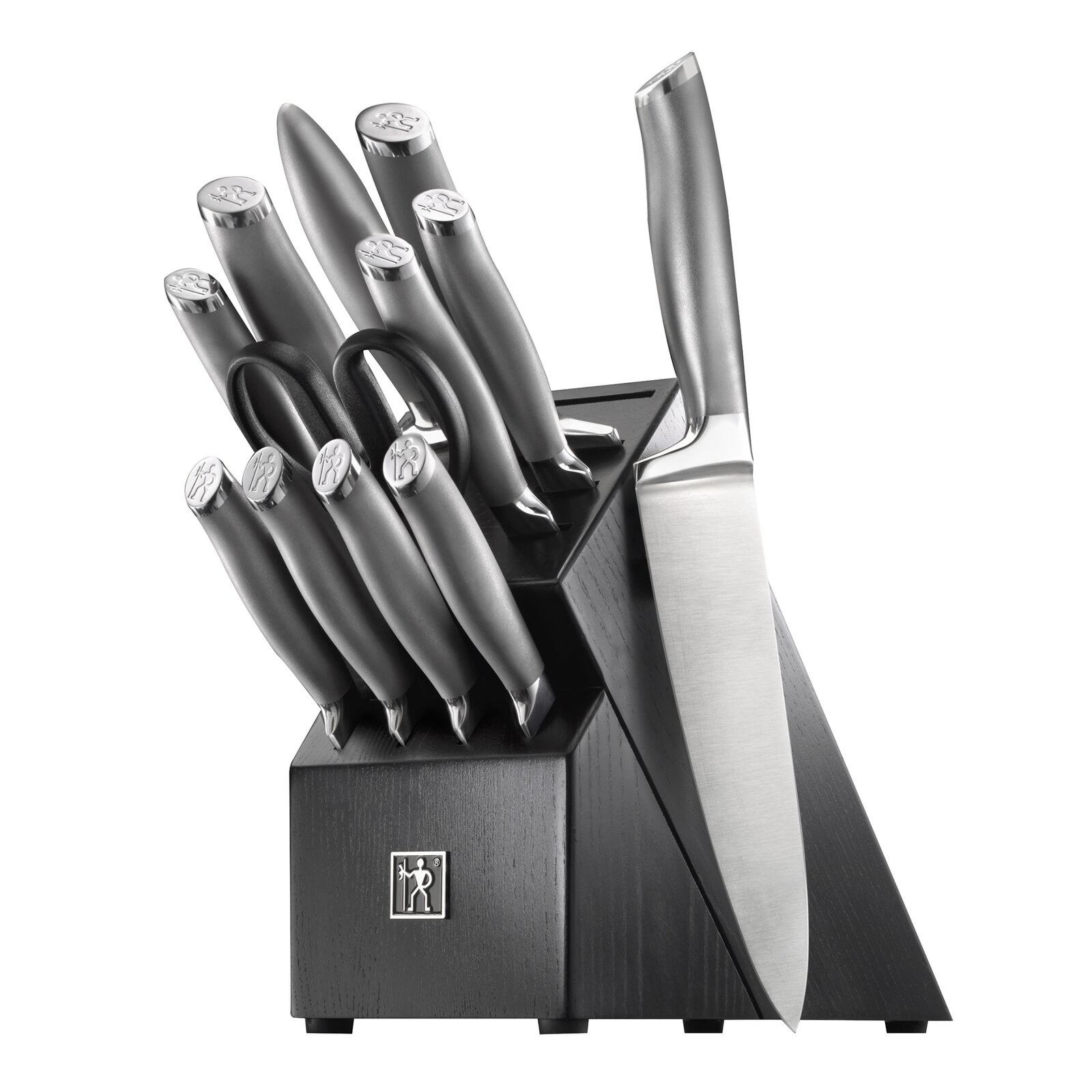 The knives in the included knife block
