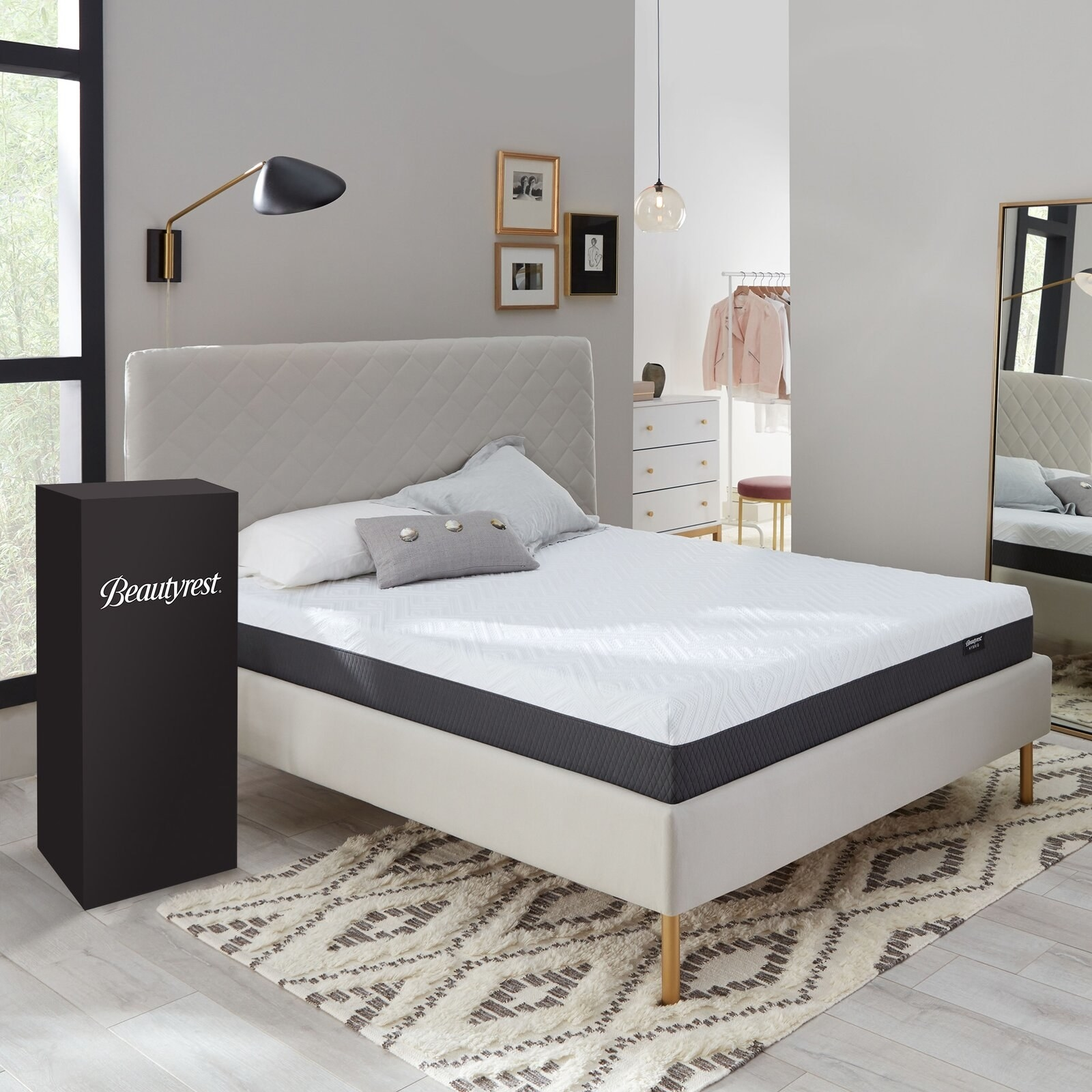 The mattress with its box