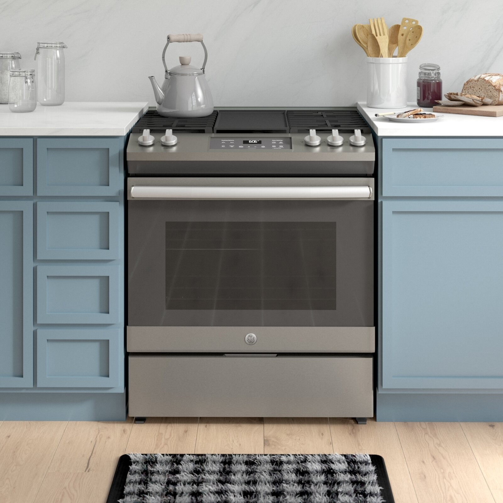 The stainless steel stove