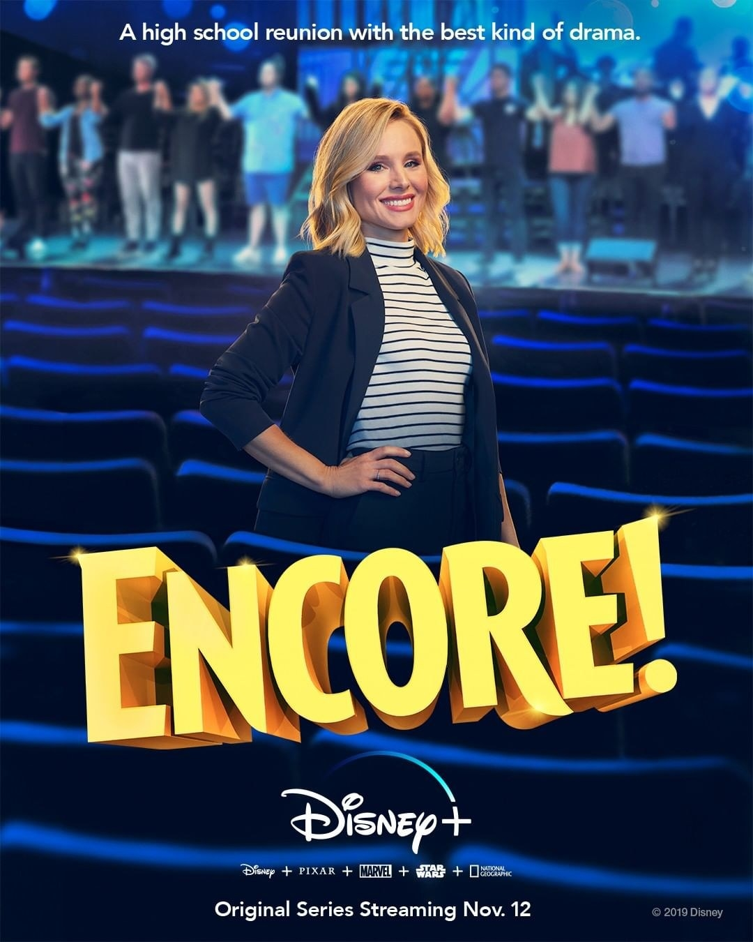 a poster of kristen belle promoting encore!