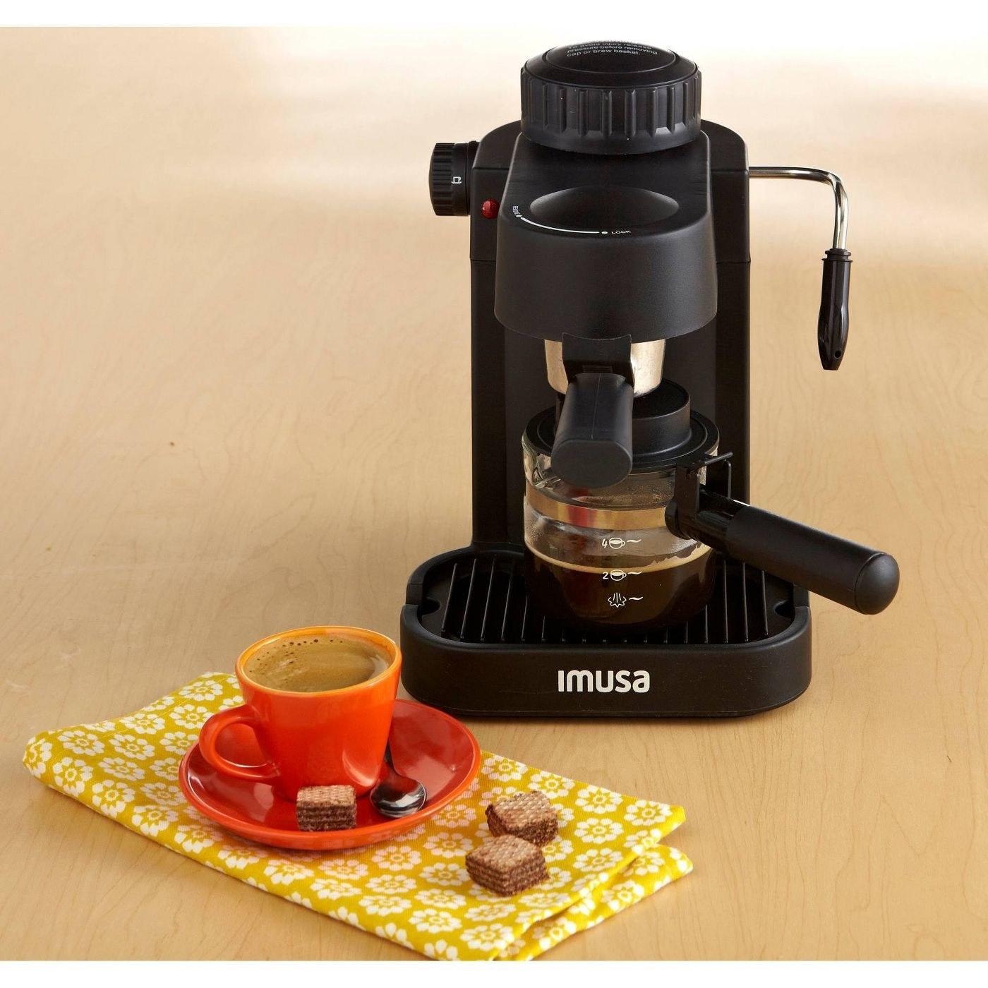 a black espresso machine