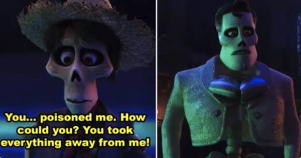 5. In the movie Coco, Ernesto disclosed that he had poisoned Héctor, an obvious (if sad) lesson in friendship and betrayal.