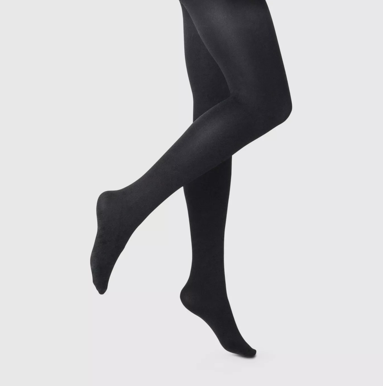 The opaque black tights
