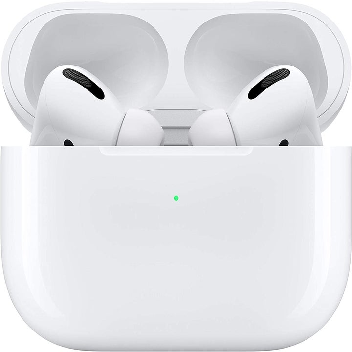 The AirPods Pro in their case