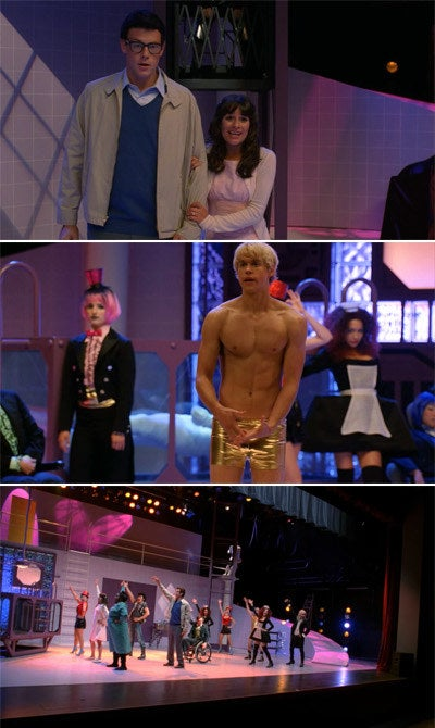 The New Directions dressed up as characters from The Rocky Horror Picture Show