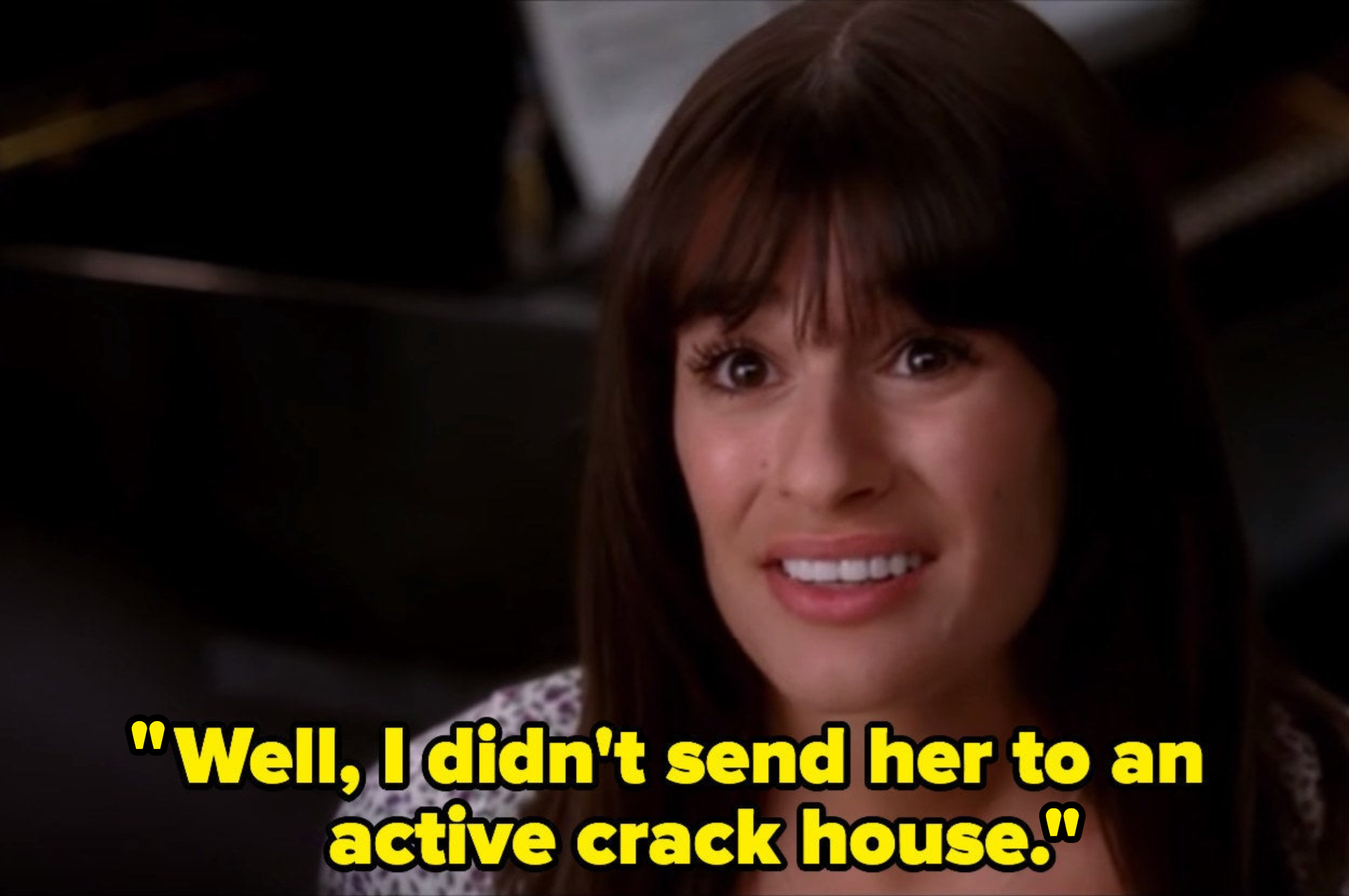 Rachel says that at least she didn't send Sunshine to an active crack house.