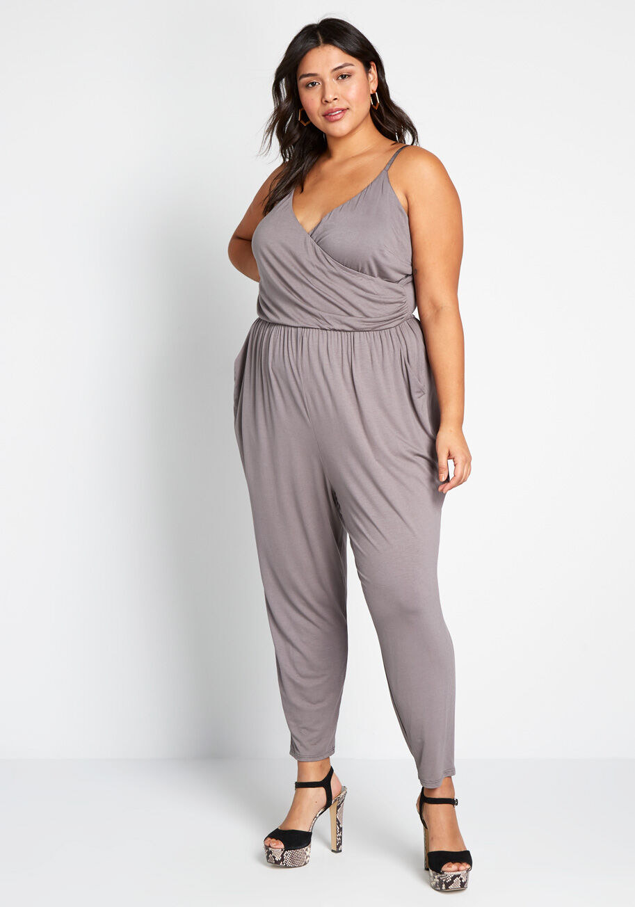 Model wearing the jumpsuit