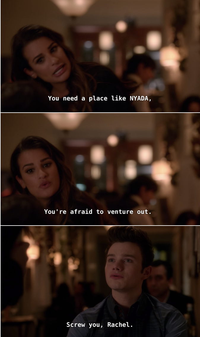 Rachel and Kurt argue.