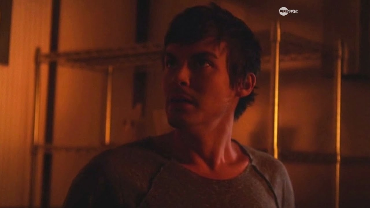 Caleb looks around sweating in the school kiln
