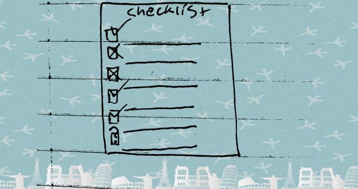 Drawing of a checklist