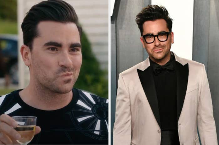 Side by side of David Rose from Schitt's Creek and Dan Levi