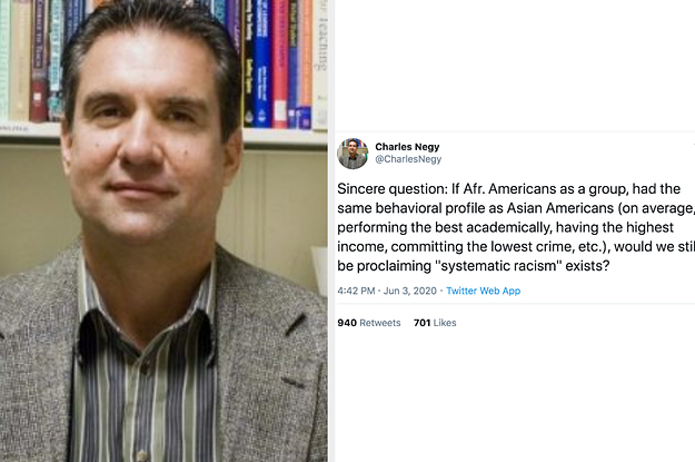 "A University Is Under Fire After A Professor Tweeted About Comparing The ""Behavioral Profile"" Of Black Americans To Asian Americans"