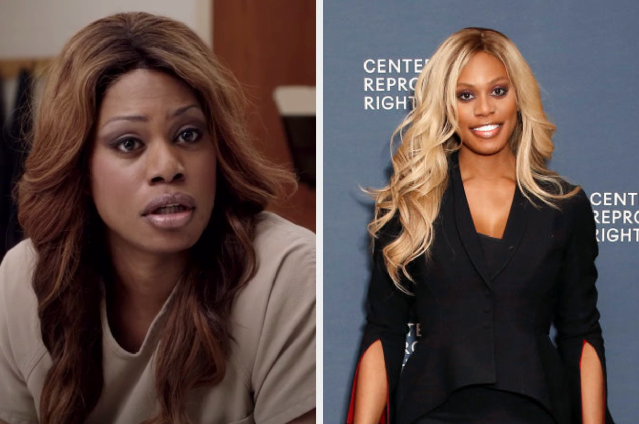 Side by side of Sophia Burset from Orange is the New Black and Laverne Cox